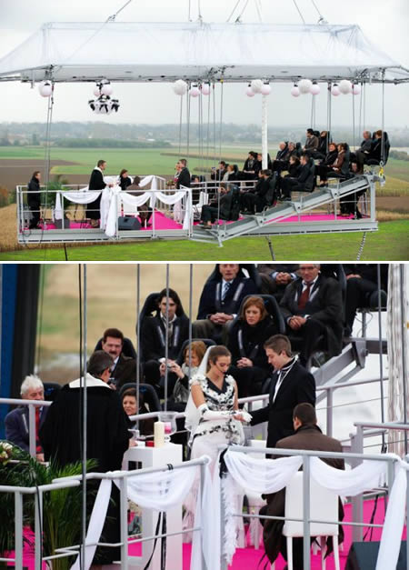 свадьба над землёй