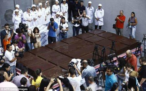 Самая большая шоколадная плитка в мире