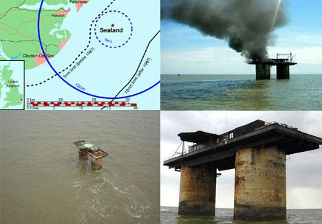 Государство, располагающееся на заброшенной военной платформе в море (5 фото)