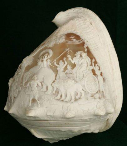 Глиптика - искусство резьбы по морским ракушкам (20 фото)