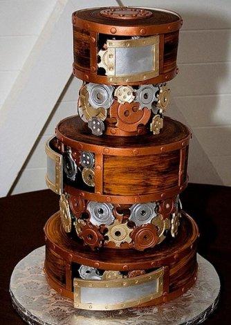 Самые необычные свадебные торты (10 фото)