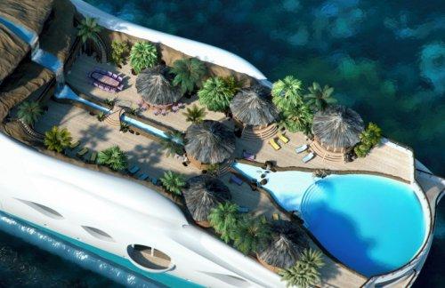 Тропический остров на яхте (6 фото)