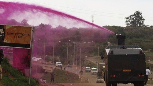 Полиция использует розовую воду (3 фото)