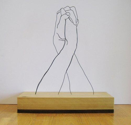 Скульптуры из проволоки Gavin Worth (9 фото)