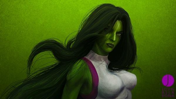Изображение супергероев от Джона Асларона (15 фото)