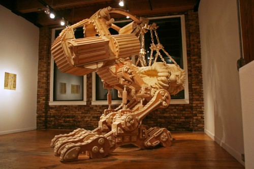 Деревянные скульптуры Майкла Ри (7 фото)