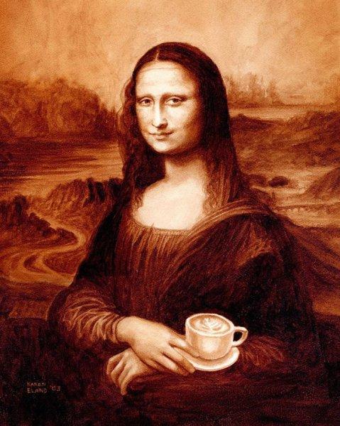 Картины из кофе от Карен Эланд (12 фото)