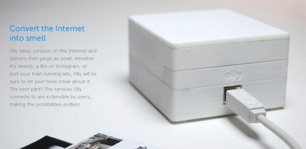 Olly - преобразователь интернет данных в запах (5 фото)