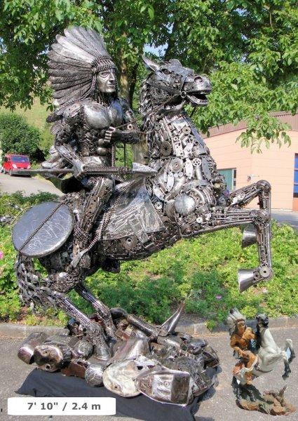 Скульптуры из автозапчастей (7 фото)