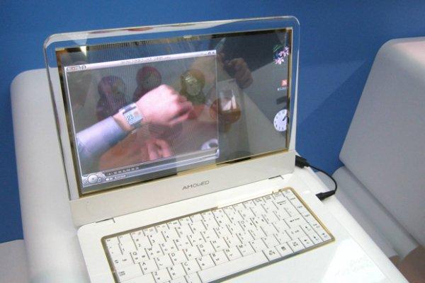 Ноутбук с прозрачным OLED-дисплеем от Samsung (5 фото)