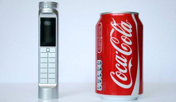 Существует мобильный телефон работающий на кока-коле (6 фото)