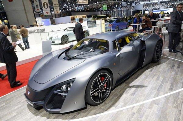 Первый российский суперкар Marussia B2 в Женеве (8 Фото)