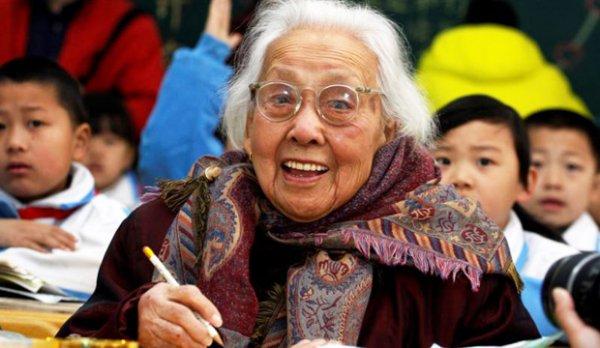 102-летняя школьница живет в Китае (2 фото)