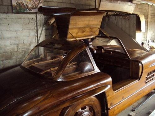 Деревянный Mercedes-Benz 300SL 1955 (6 фото)