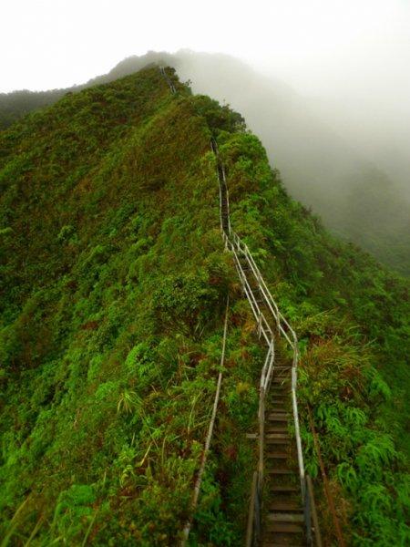 Лестница Хайку на острове Оаху (13 фото)