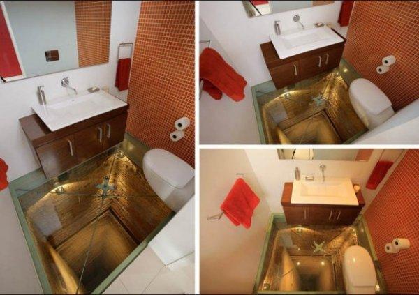 Самая пугающая ванная комната в мире (4 фото)