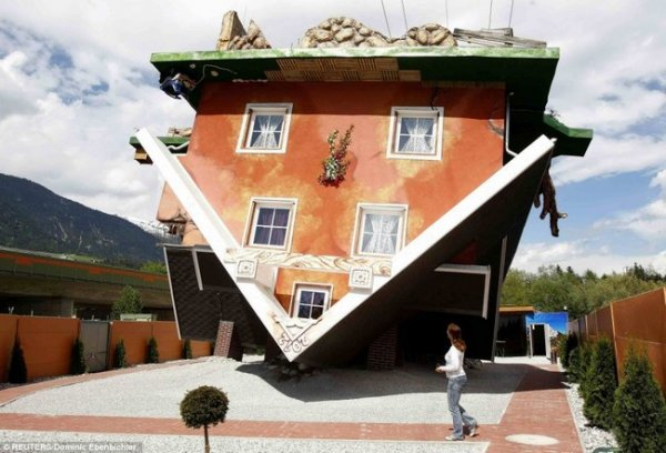Дом «Вверх дном» (Австрия) (7 фото + видео)