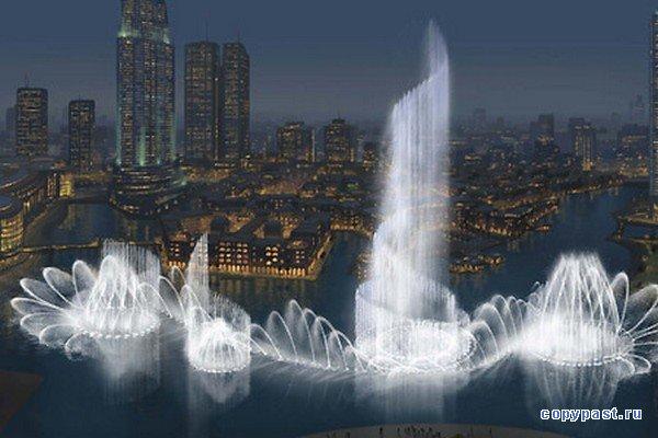 «Поющий» фонтан в Дубае (15 фото + 7 видео)