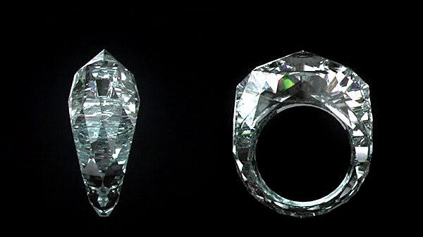Первое в мире полностью бриллиантовое кольцо