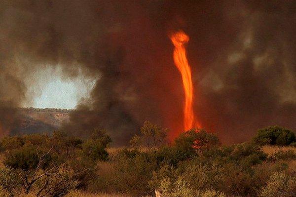 Огненный торнадо в Австралии (12 фото + видео)
