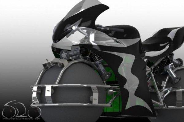 Мотоцикл, способный перемещаться в любом направлении (4 фото)