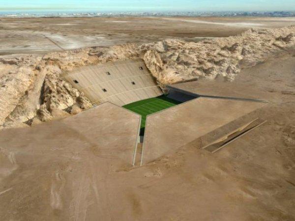 Стадион на песке (7 фото)