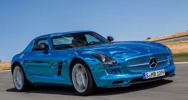 Самый мощный в мире электрокар – Mercedes SLS AMG (15 фото)
