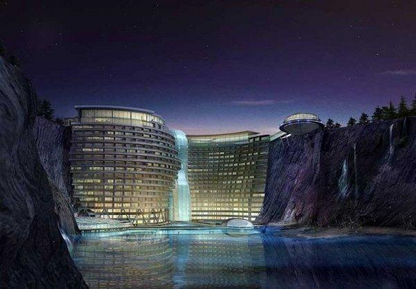 Удивительный подземный отель Шимао в Сунцзяне (11 фото)