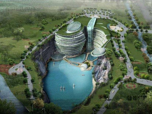 Невероятный подземный отель в Китае