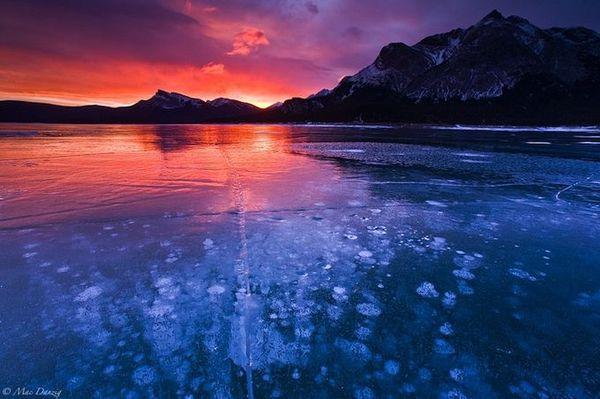 Озеро Авраама в канадских Скалистых горах (6 фото)