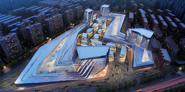Многофункциональный комплекс Shanghai Wuzhou International Plaza в Шанхае (Китай) (6 фото)