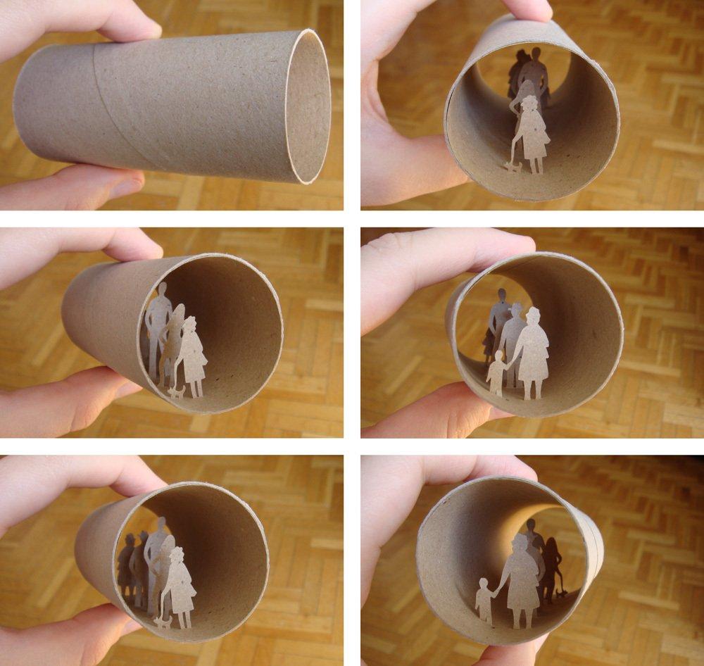 Картон от туалетной бумаги поделка