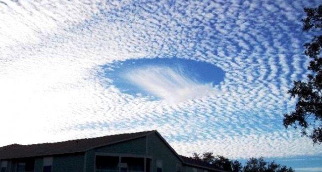 Необычное облачное явление