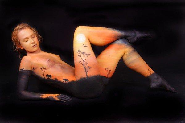 Боди-арт от Gesine Marwedel (13 фото)
