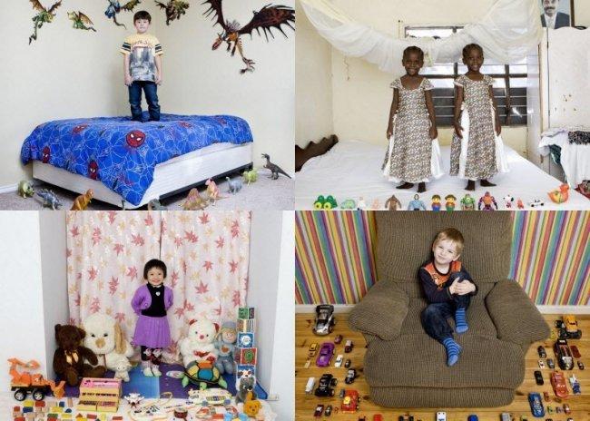дети из разных стран с их игрушками
