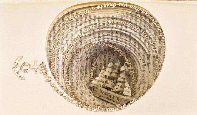 Резьба по книгам от Томаса Витмана