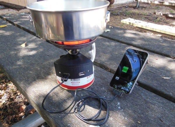 Устройство для зарядки iPhone огнем