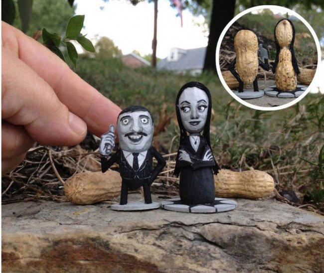 Фигурки из арахиса от Стива Казино (Steve Casino) (9 фото)