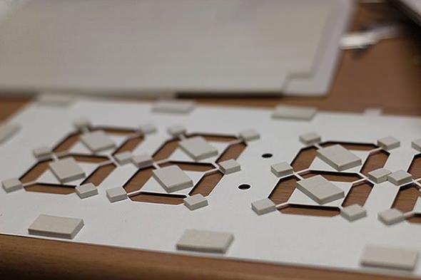 Цифровые часы из бумаги (7 фото)