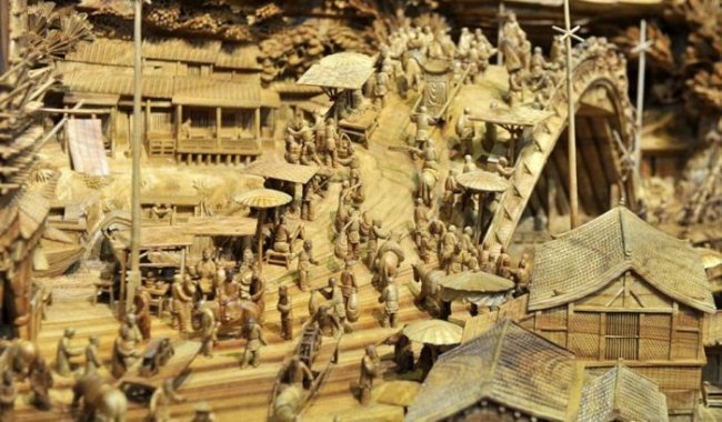Деревянная скульптура от Чжэна Чунхуи (Zheng Chunhui) (5 фото)