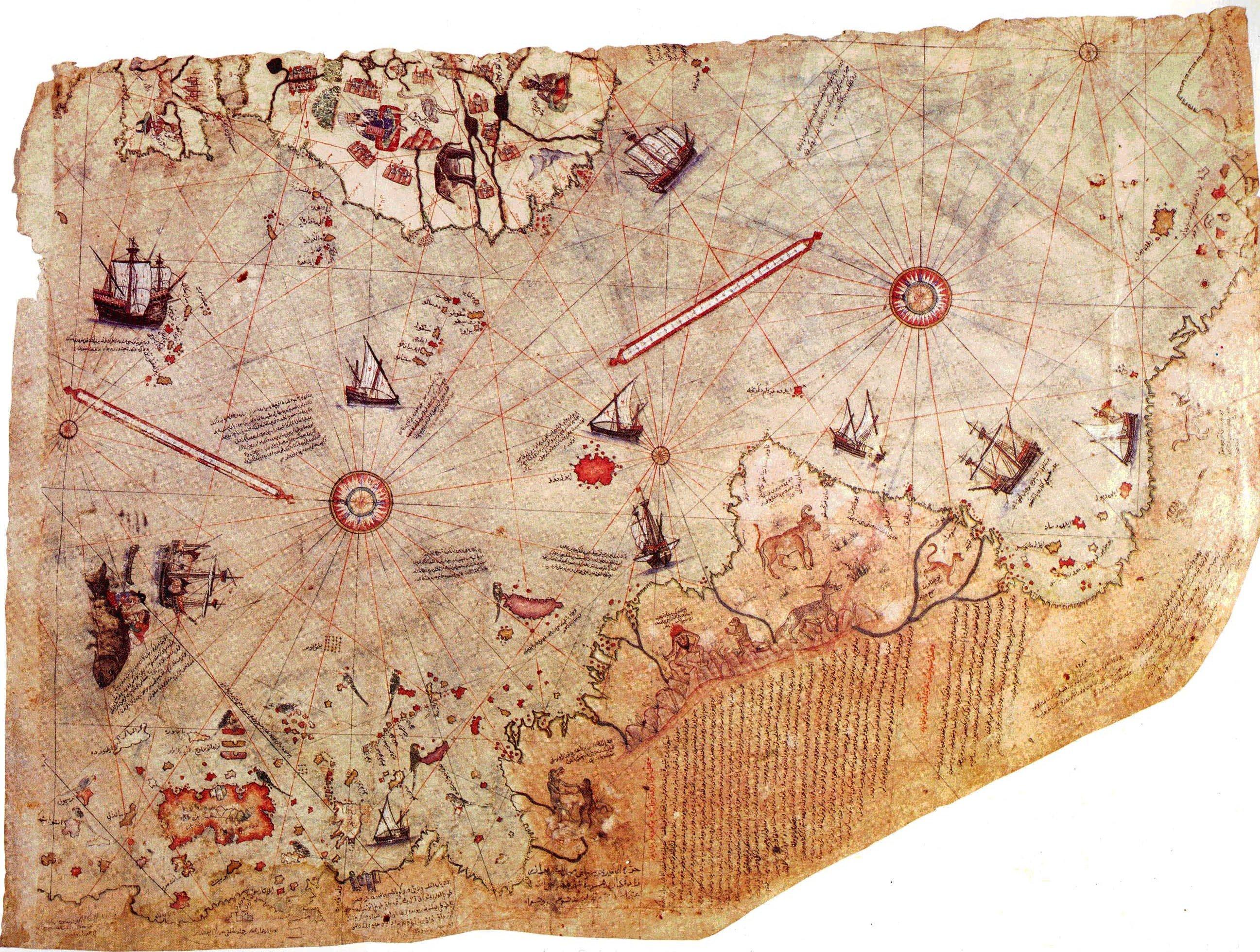 Карта Пири Рейса 1513