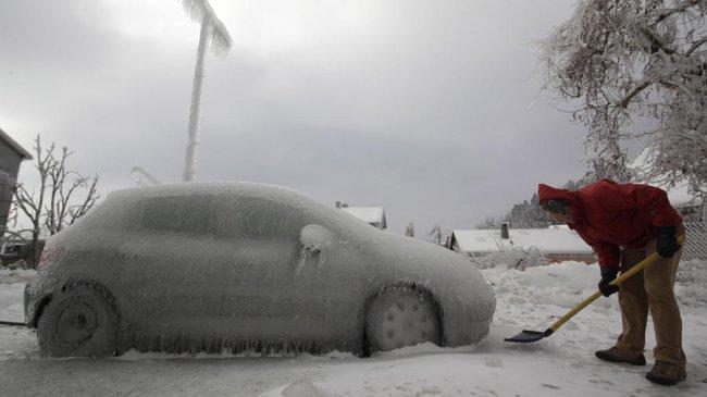 В Словении прошёл ледяной дождь (7 фото)