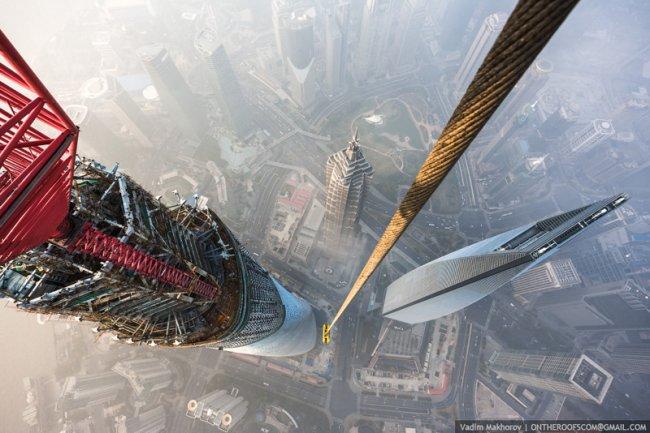 Восхождение на самое высокое здание в Китае (15 фото + видео)