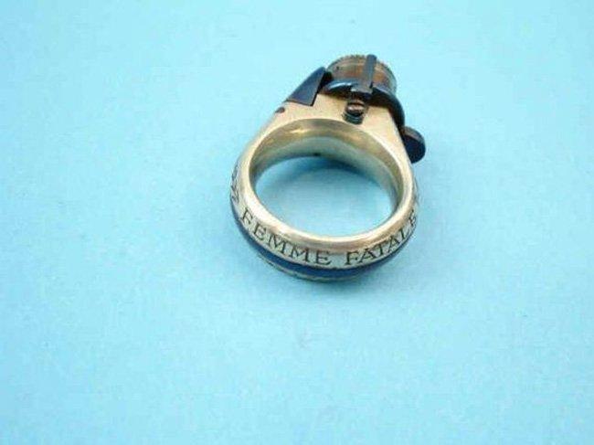 Винтажное кольцо-пистолет (4 фото)