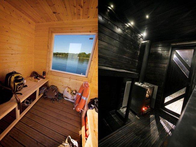 Сауна-плот из Финляндии (7 фото)