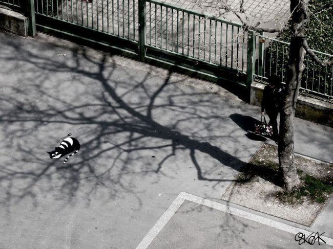 Уличный художник Oak Oak (15 фото)