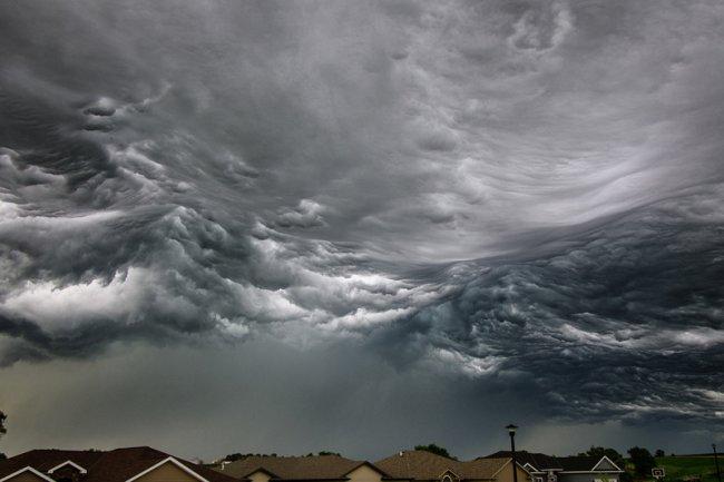 Фото дня 22.07.2014 - тучи в виде океана