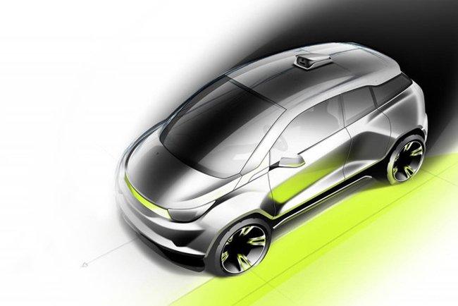 Автомобиль с подвижным рулем (2 фото)