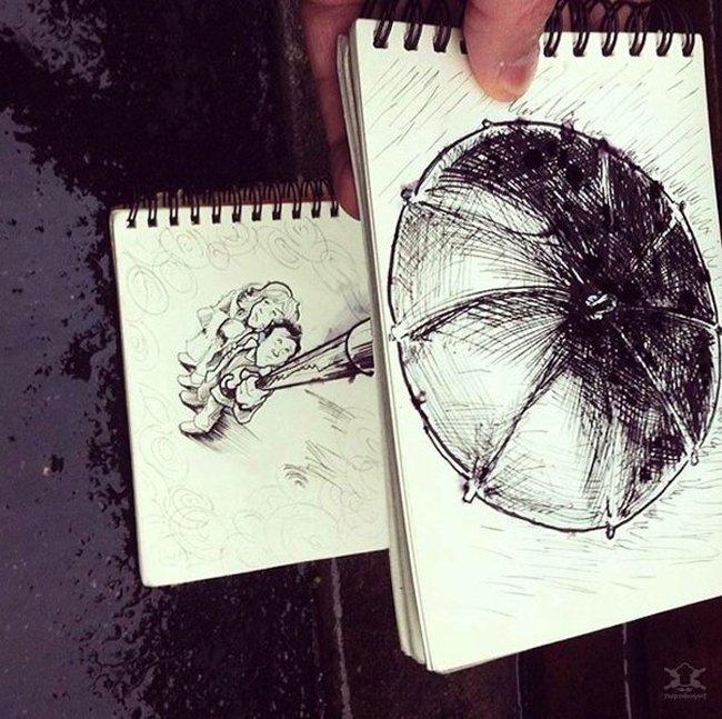 Рисованные люди от Troqman (11 фото)