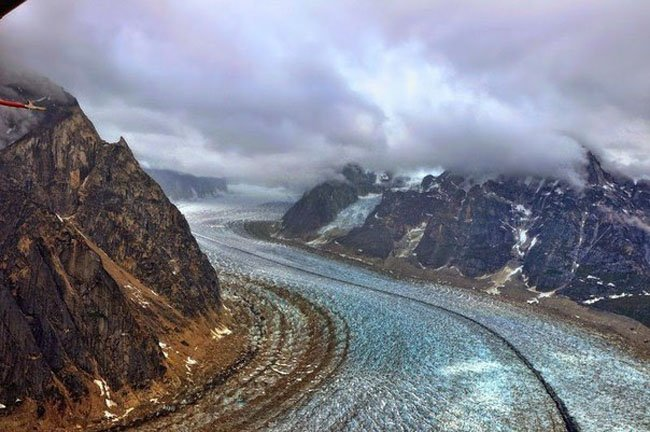Движение льда в ущелье Рут (7 фото)